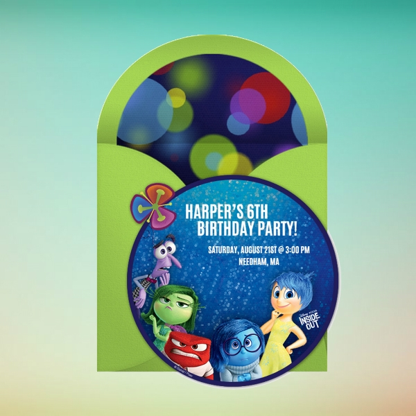 inside out party online birthday invitation