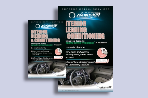 interior cleaning car service flyer