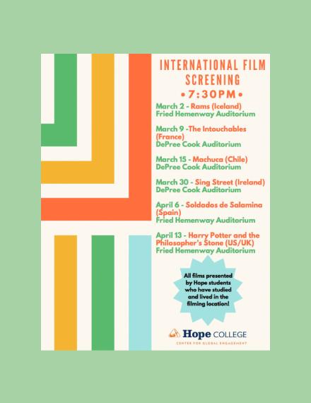 international film screening schedule