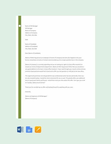 job proposal letter template