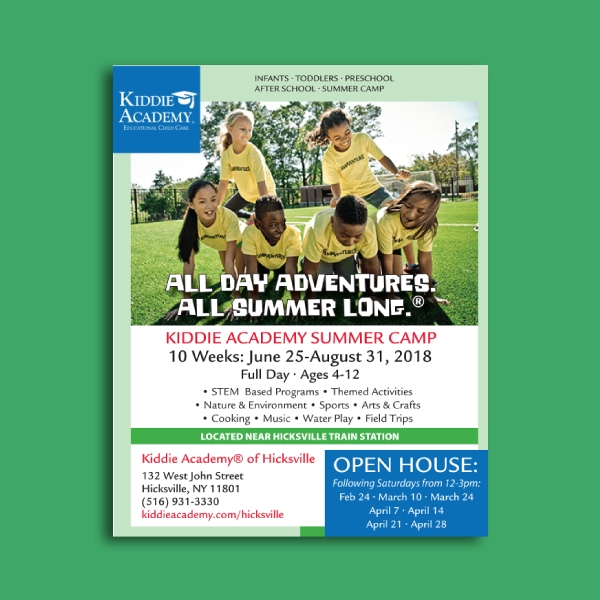 kiddie academy day care flyer