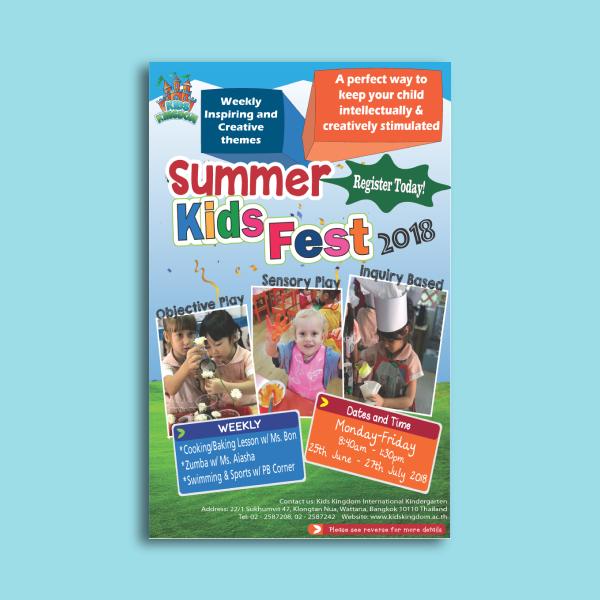 kids kingdom day care flyer