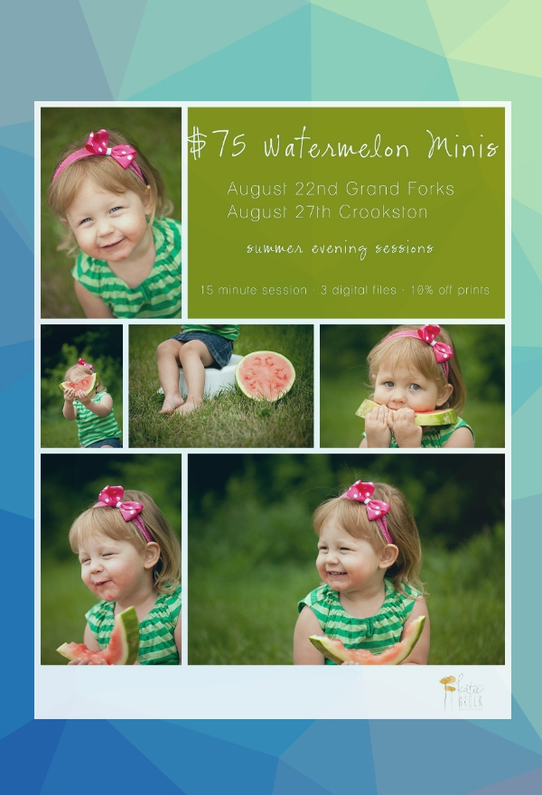 kids summer session photography flyer