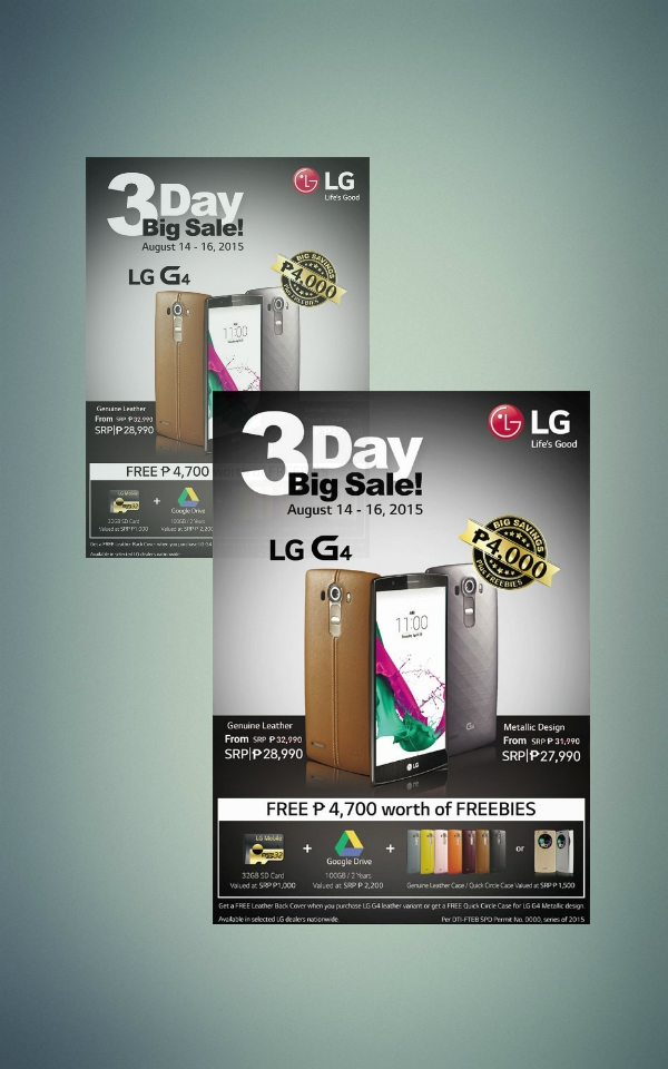 lg 3 day big sale flyer