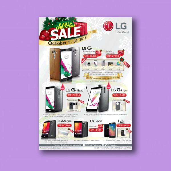lg christmas sale digital marketing flyer