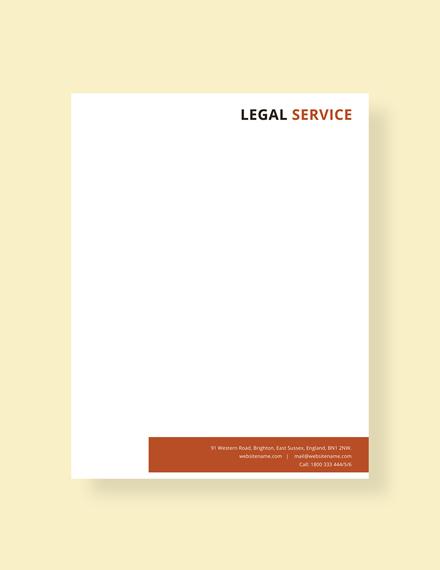 legal services letterhead