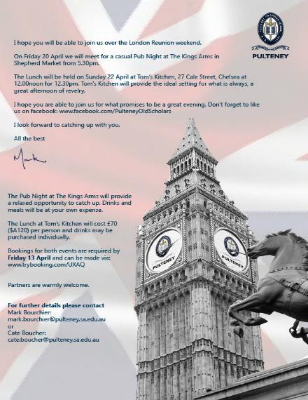 london reunion weekend lunch invitation