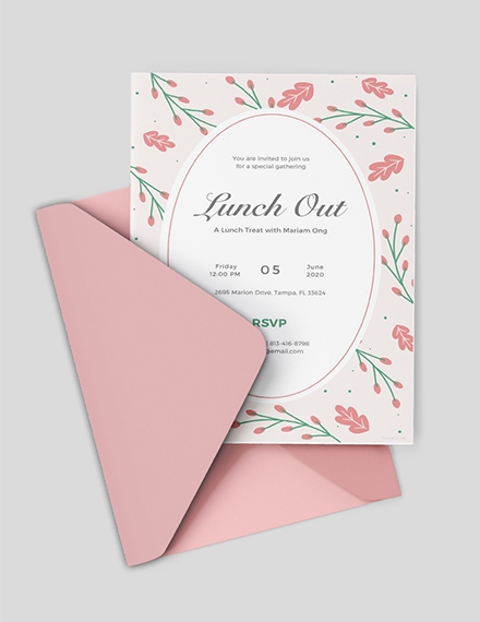 lunch out invitation template