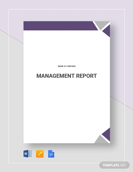 management report template1