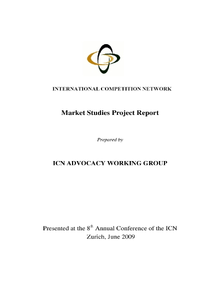 Market Studies Project Report