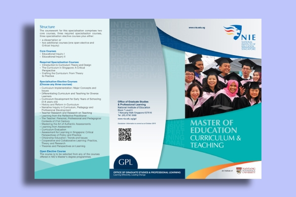 master of education curriculum flyer