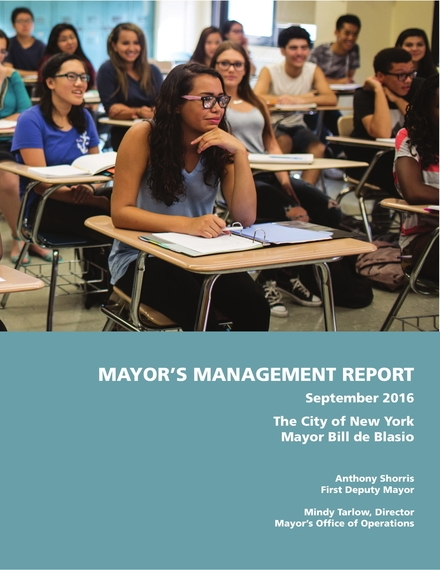 mayors management report example