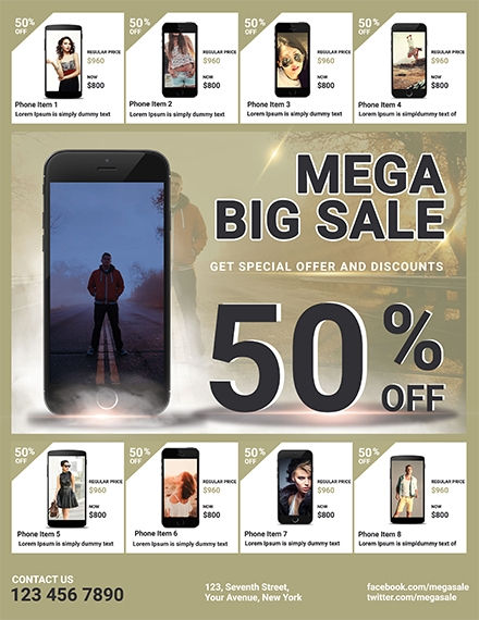 mega big gadget sale flyer