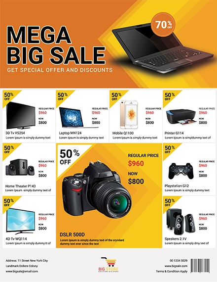 mega big tech sale flyer