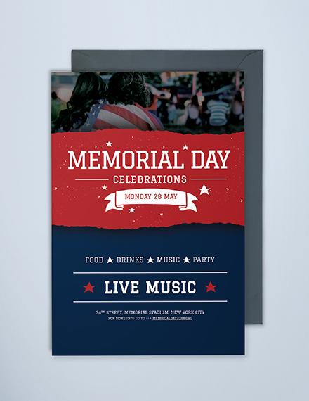 memorial day invitation sample
