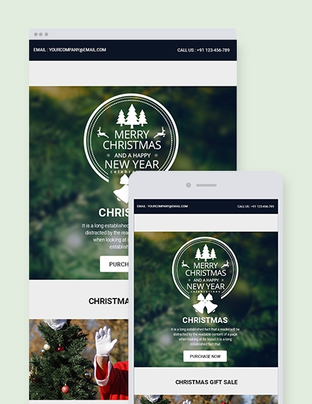 merry christmas newsletter template