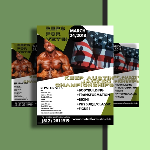 metroflex fitness event flyer