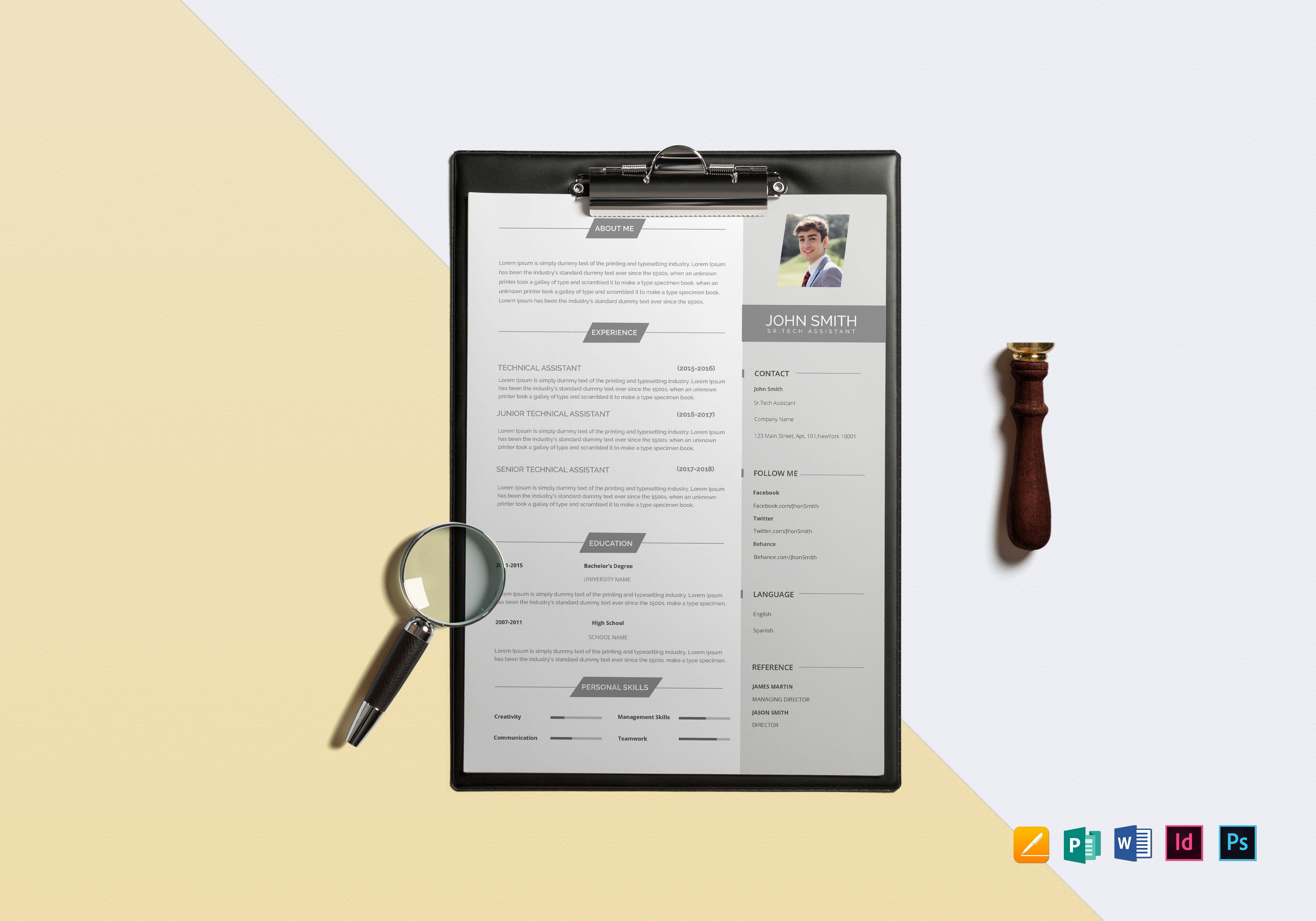minimalist bpo resume template