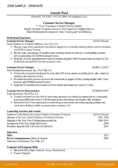 minimalist graduate resume