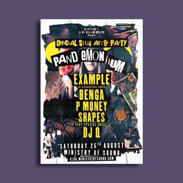 ministry of sound party flyer