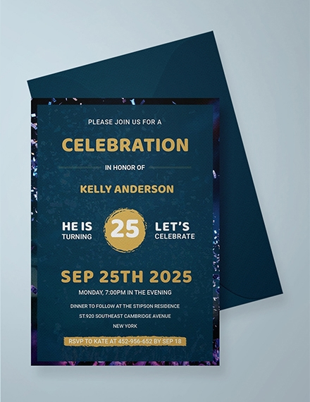 modern birthday invitation