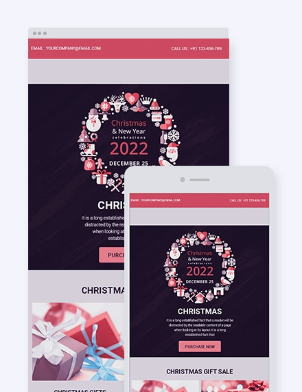 modern christmas email newsletter