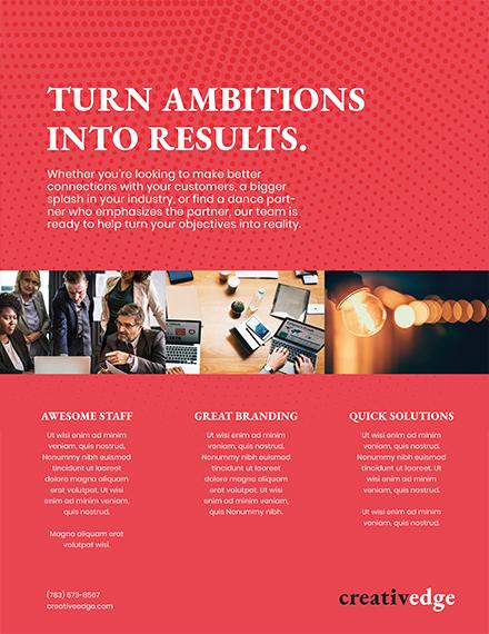 modern marketing flyer template