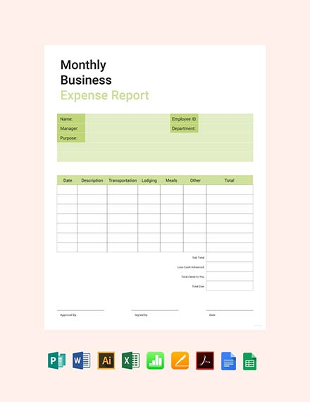 monthly business expense report template1