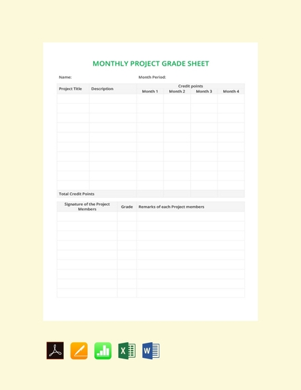 monthly grade sheet template2