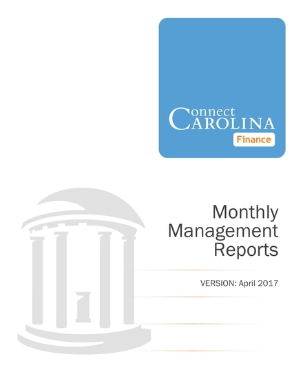 monthly management report example