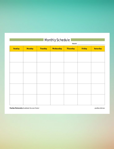 monthly schedule template1