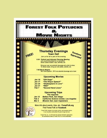 movie schedule poster