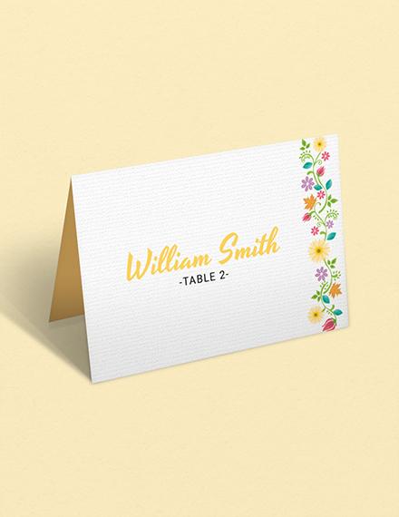 multi place wedding name card