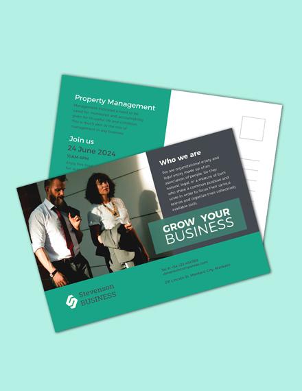 multi purpose business postcard