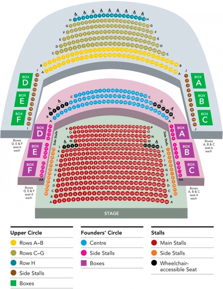 national opera house seating chart