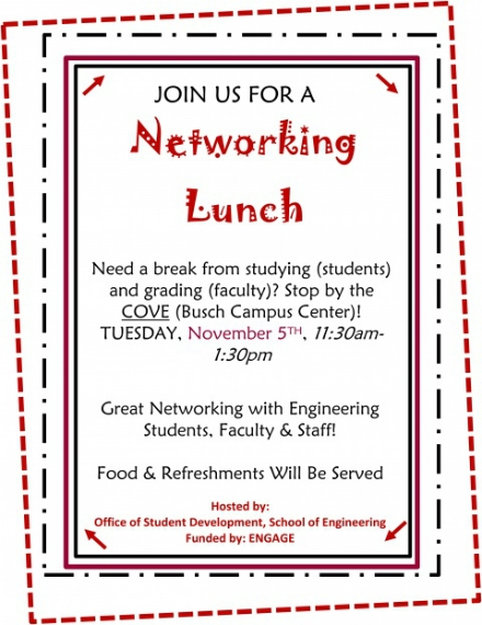 networking lunch invitation