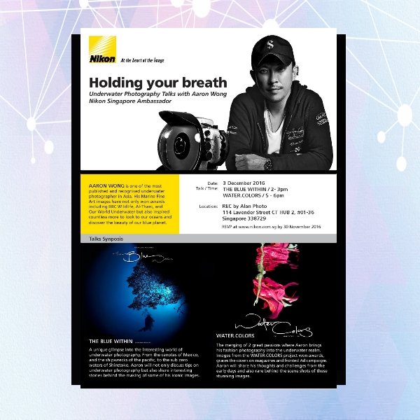 nikon underwater photography flyer