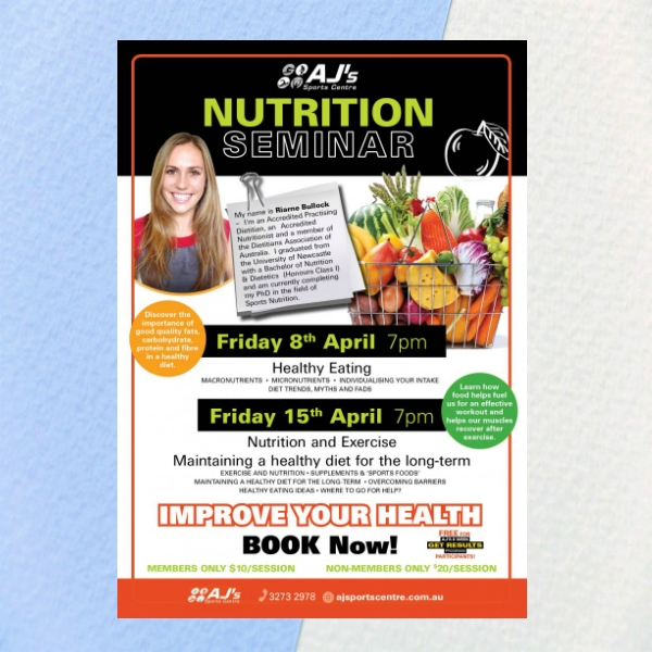 nutrition flyer example