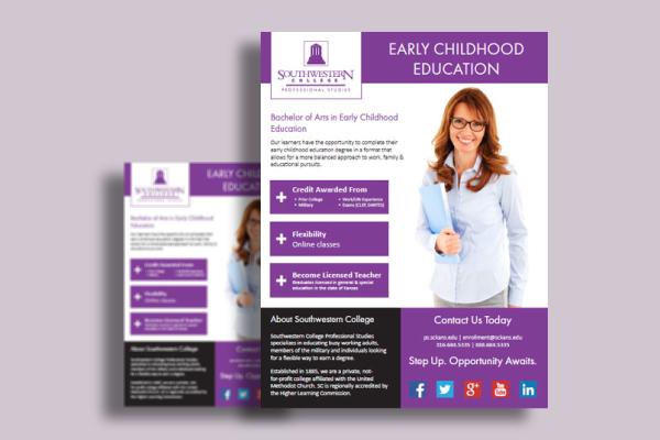 online bachelors advanced education flyer