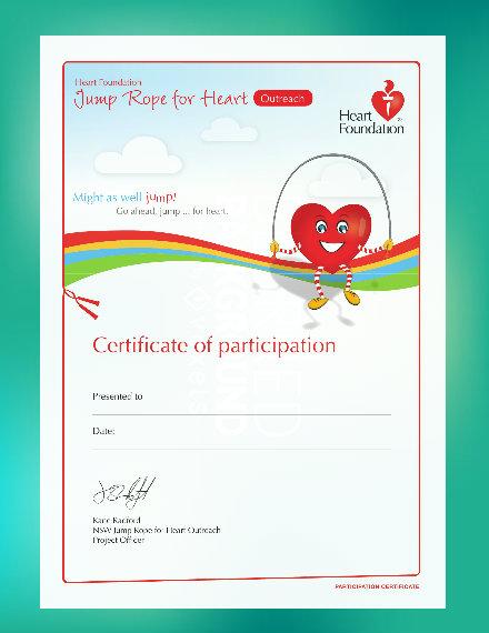 Outreach Participation Certificate