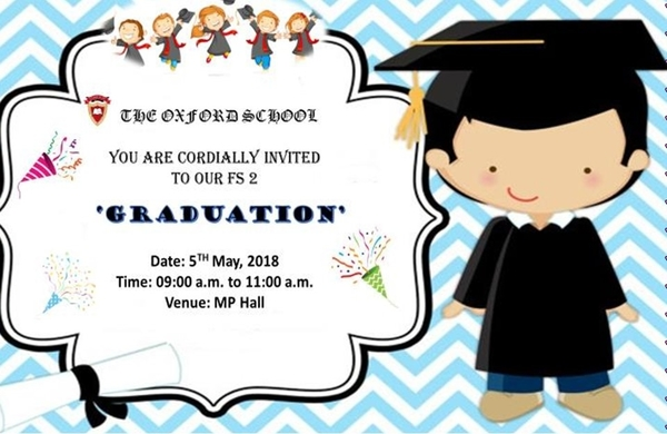 Oxford School Graduation Invitation