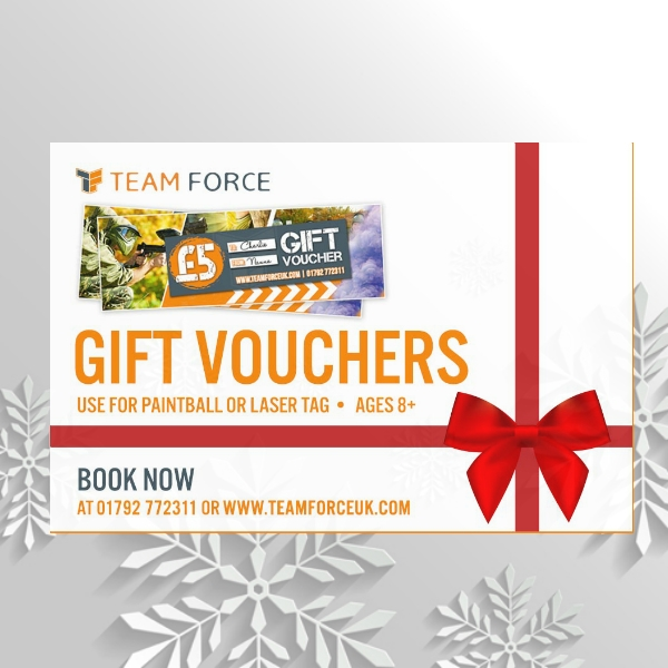 paint ball or laser tag christmas voucher