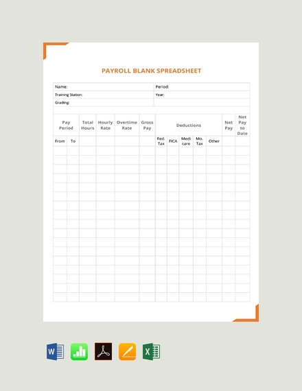payroll business spreadsheet template sample