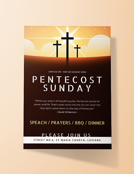Pentecost Sunday Invitation Design