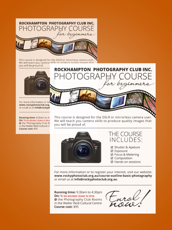 photography course flyer
