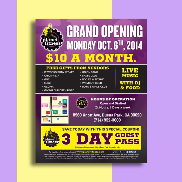 planet fitness flyer