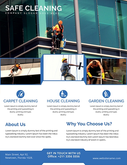 printable cleaning services flyer