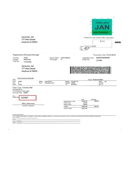 printable receipt sample