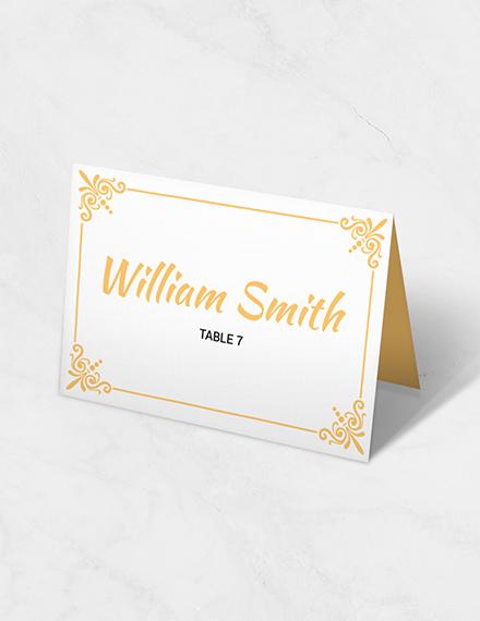 printable wedding table card
