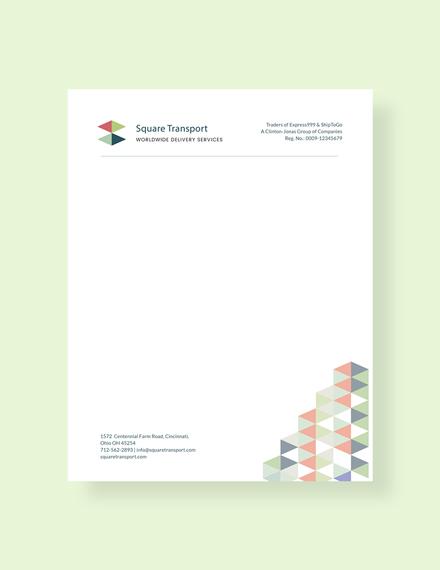 professional letterhead template1